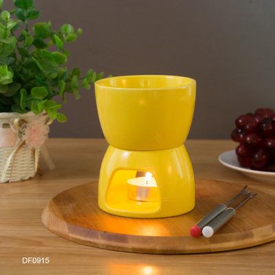 陶瓷巧克力芝士火锅套装 冰淇淋奶酪火锅炉 DIY蜡烛酒精加热炉