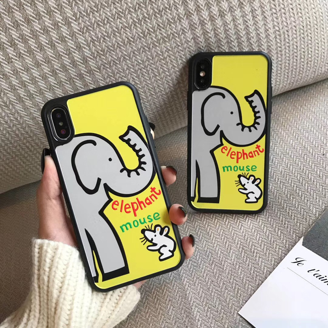 Cute Mickey Mouse for iPhone7p Mobile Shell All-inclusive Apple Mickey Cover Elephant ix max Couple