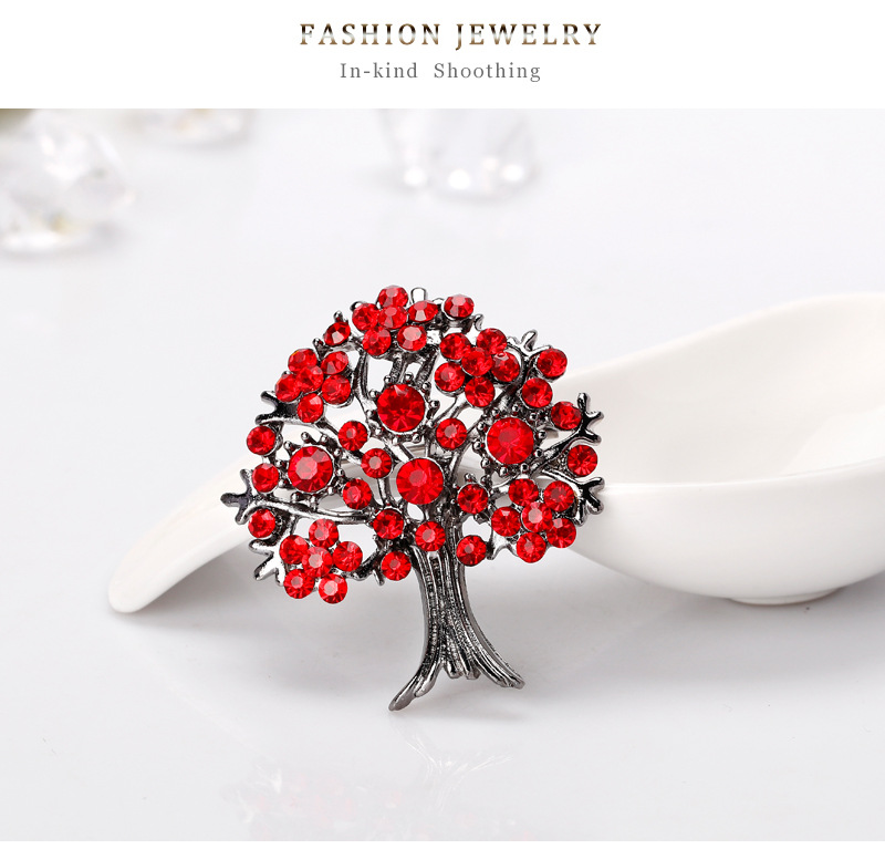 Alloy Korea Flowers brooch  (AL230-A) NHDR2640-AL230-A