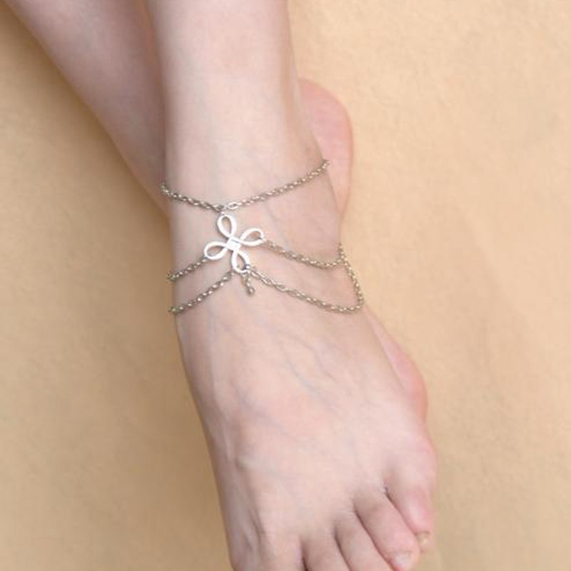 Alloy Fashion Geometric Ankle(Silver) NHNMD4370-Silver