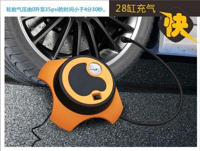 车载28缸快速充气泵便携式小轿车汽车轮胎加气泵12V电动车用打气