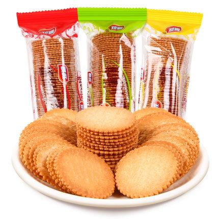 顺旺迷你小薄饼5kg 花生香葱椰奶味韧性香酥脆薄饼干 10斤整箱