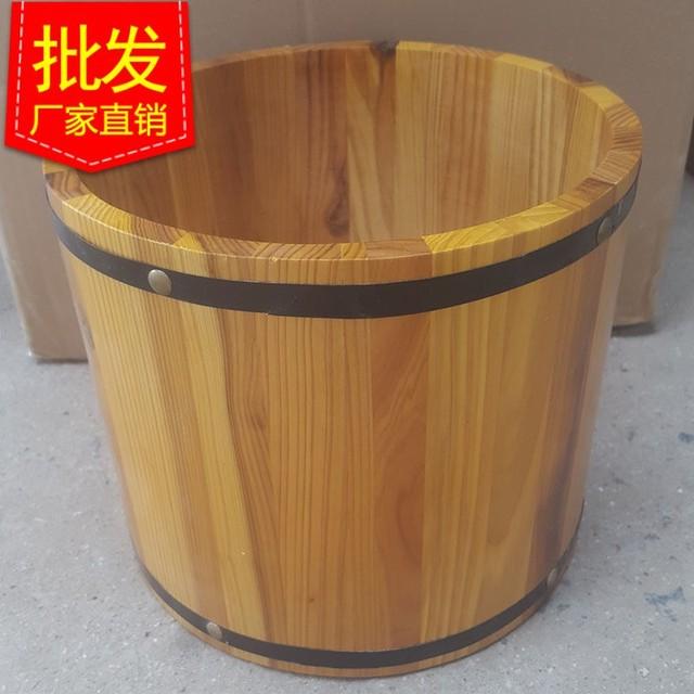 厂家直销高档铁箍杉木桶 木质创意摆件圆形桶木制包装桶订做
