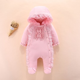 Ins explosion female baby onesies cotton robes newborn romper baby clothes feet cotton coat