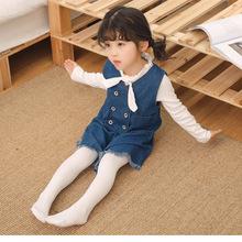 儿童舞蹈袜百搭120D天鹅绒打底裤素色连裤袜女童表演袜跳舞丝袜子