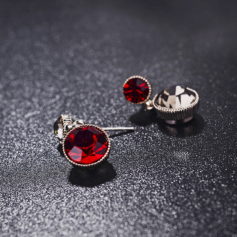 Alloy Fashion Geometric earring  (Red and white) NHLJ3654-Red and white
