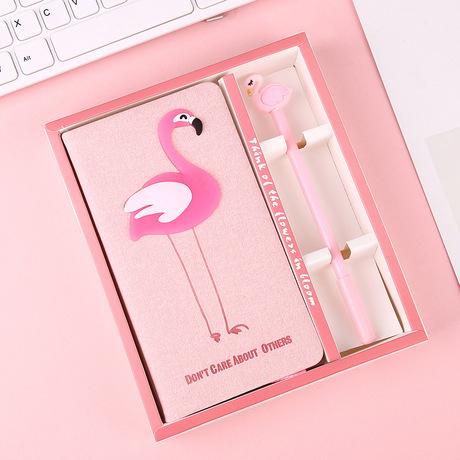 Nhật ký máy tính xách tay Flamingo Nhật ký thiết lập Cẩm nang xương rồng Unicorn Bộ quà tặng
