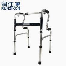 醫療器械廠家直銷扁管雙彎二合一助行器加厚鋁合金防滑R型助行器