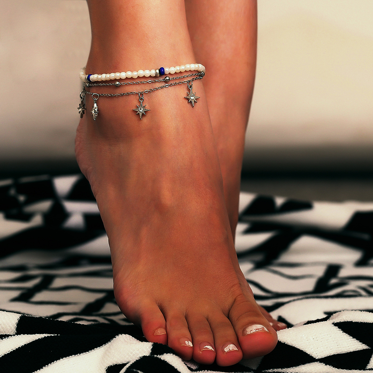 Alloy Simple Geometric Anklet  Alloy 0426 NHXR2472Alloy0426