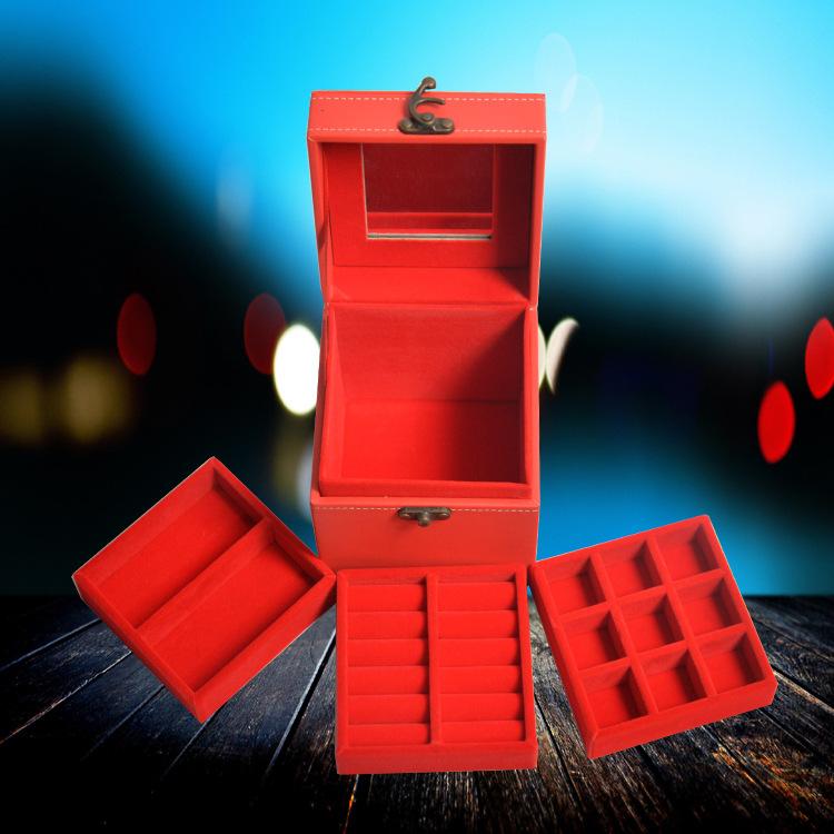 专业生产高档皮质首饰皮盒韩版公主复古时尚pu皮盒伴手礼新娘礼盒