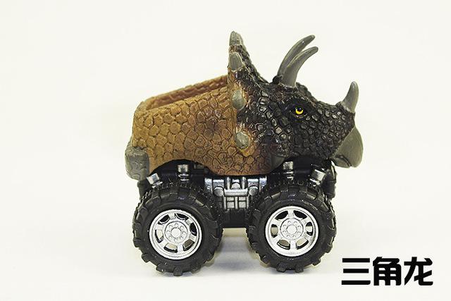 Đồ chơi khủng long mô phỏng chuyên dụng xuyên biên giới kéo xe Tyrannosaurus mô hình đồ chơi đua xe đồ chơi ngày của trẻ em với số lượng lớn Mô hình mô phỏng