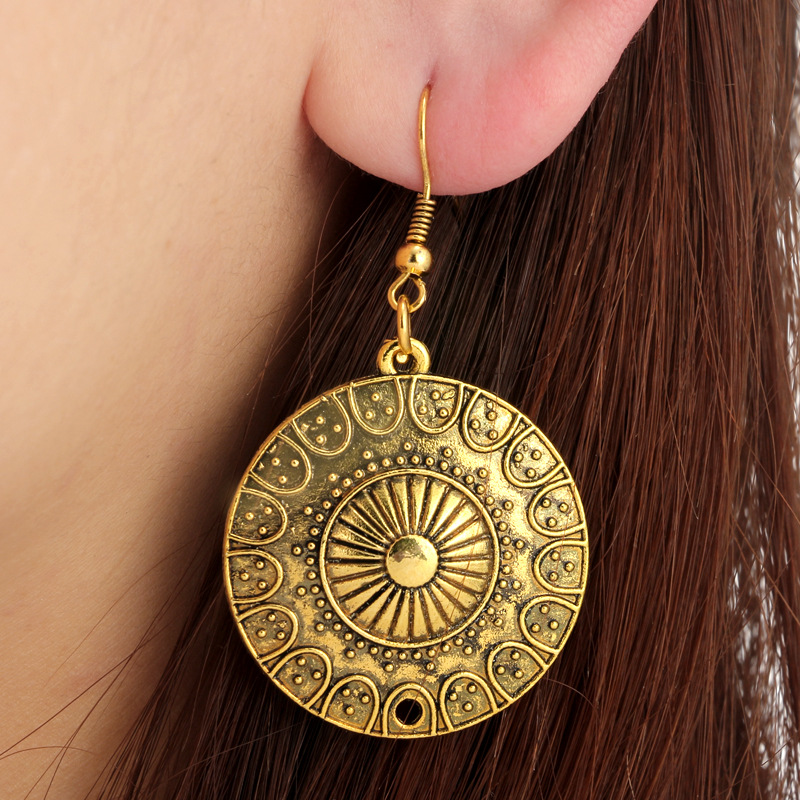 Alloy Fashion Geometric earring(Ancient Silver) NHGY1709-Ancient Silver