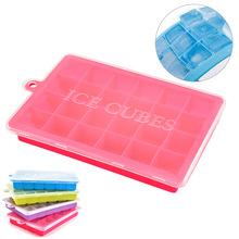 Nhựa băng băng lưới sáng tạo khuôn silicone băng khuôn hộp mốc 24 một cách nhanh chóng đông lạnh băng mạng lưới bán buôn tại chỗ Dụng cụ nhà bếp khác