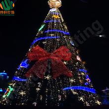 新款创意圣诞节装饰 大型圣诞树 蝴蝶結燈串裝飾樹燈造型燈