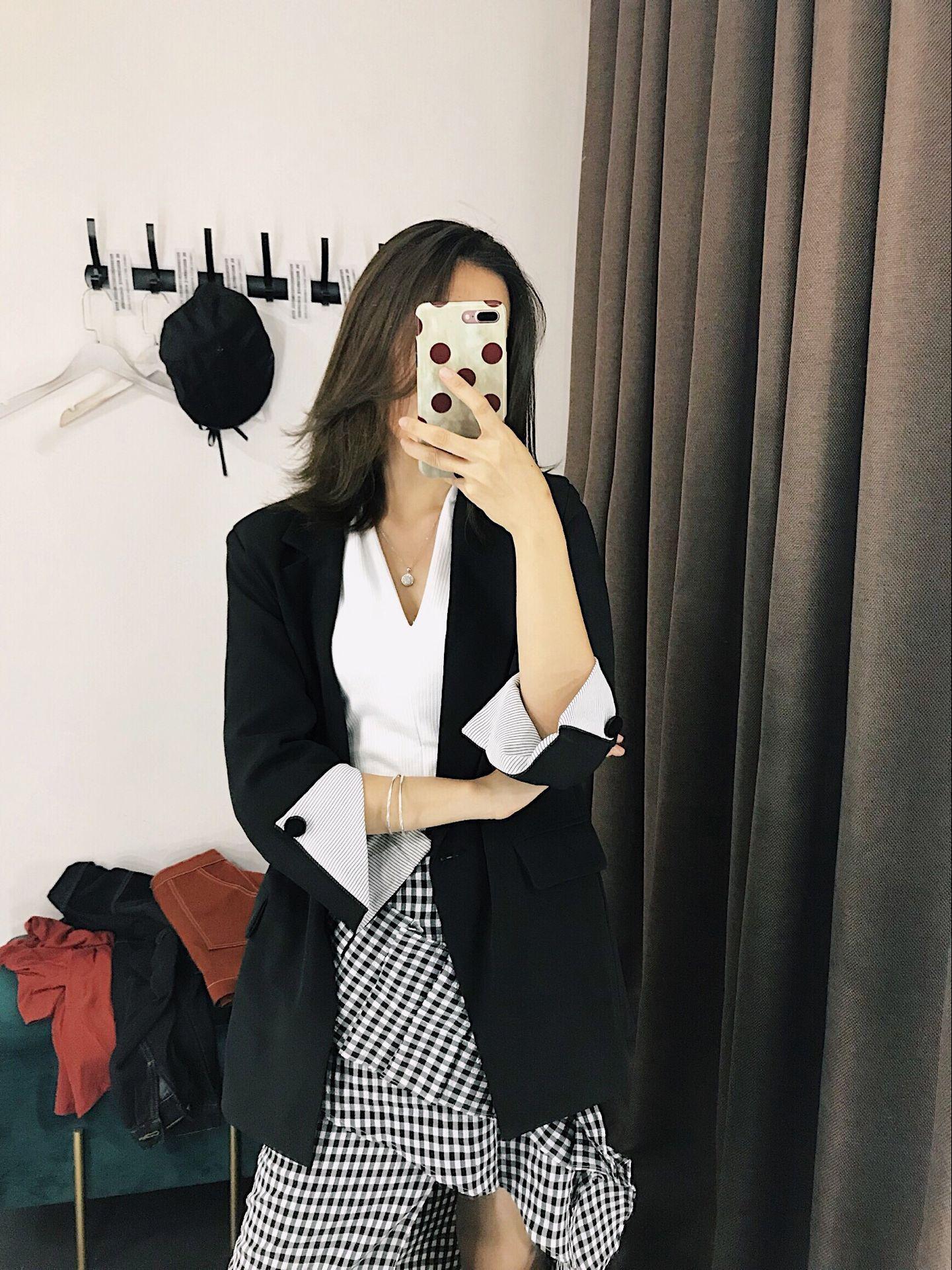 Polyester Fashioncoat(Black-s) NHAM6135-Black-s