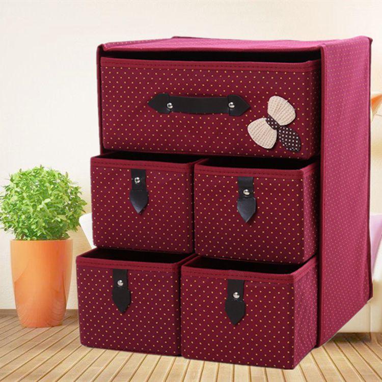 Thick Non-woven Storage Box Folding Storage Box Drawer Folding Storage Drawer Storage Box Drawer Box