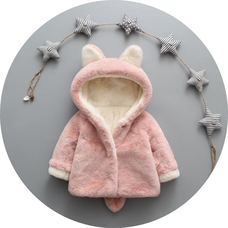 婴幼儿男女宝宝冬装棉衣加绒加厚外套外出棉服女童冬季毛毛衣棉袄
