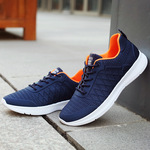 2018 new spring sports shoes, students front lace, low running shoes, Korean tennis net, shallow mens sports shoes.