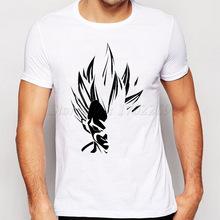 新款印花七龙珠 悟空莫代尔白色短袖T恤男女潮半袖体恤