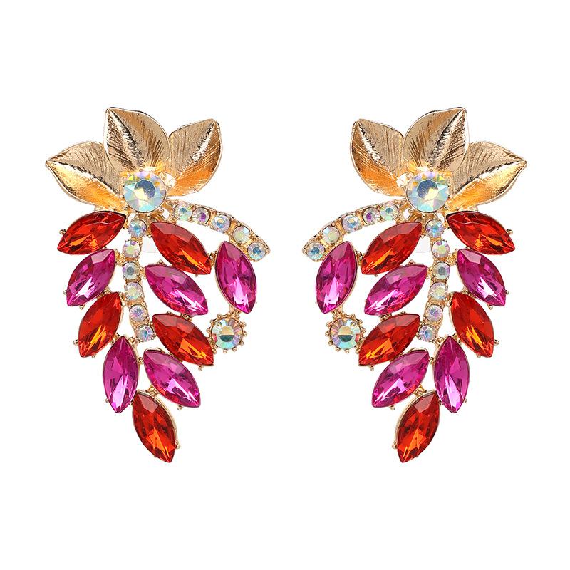 Crystal&CZ Fashion Geometric earring(black) NHJJ4943-black