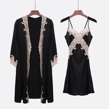 可定制2018 睡衣女士睡袍裙100%桑蚕丝真丝睡衣重磅两件套家居服