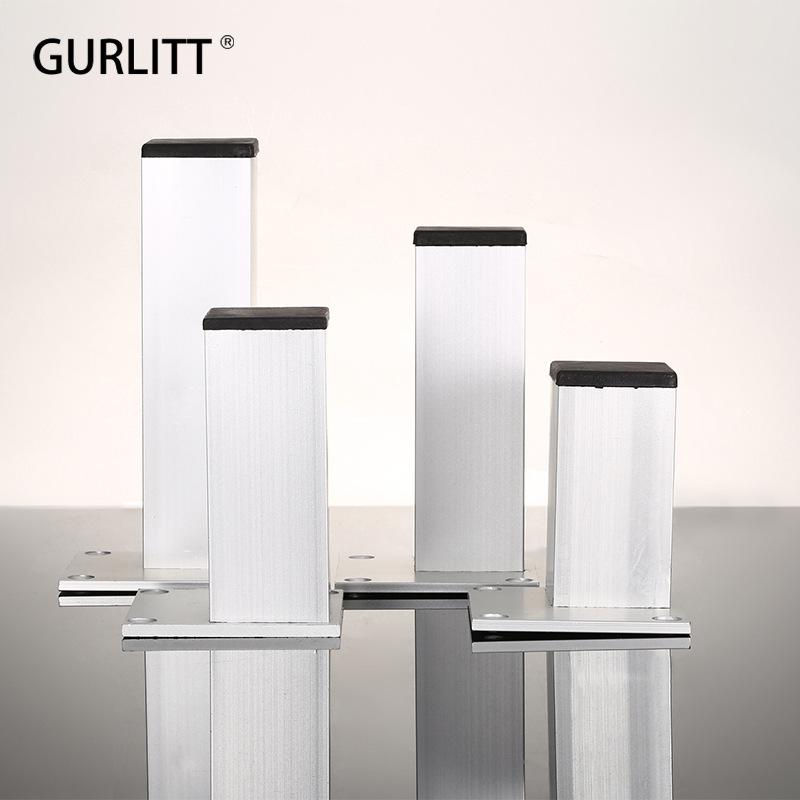 铝合金柜脚方形橱柜脚腿可调节脚浴柜脚橱柜脚电视柜柜脚家具腿脚