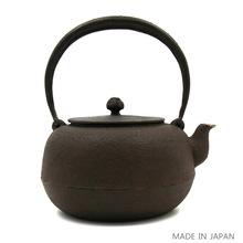 日本制造铁茶壶あらい工房南部铁壶平丸手工铁质茶具烧水器无涂层