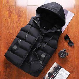 Cotton vest men's new autumn and winter trend coat casual vest shoulder men's slim handsome down cotton men's vest