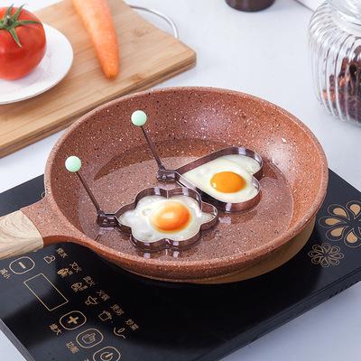 加厚不锈钢煎蛋器 创意煎鸡蛋模型模具 煎荷包蛋磨具2元商品批发