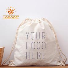 【下单返话费】可印logo帆布袋 双抽拉绳背包100%纯棉帆布袋定制