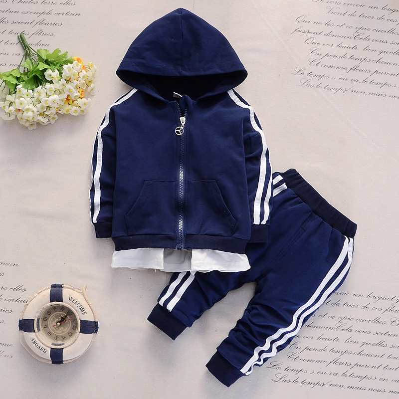 Spring and Autumn 1-5 Years Old Baby Long-sleeved Hoodie Trousers Suit