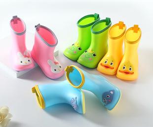Бао Ю ребенок сапоги мальчиков и девочек, ребенок трубка сапоги младенец младенец 1-6 лет Детские водные туфли, резиновые туфли, детские завод