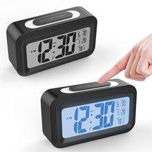 升级温度版 静音时钟 电子钟 光感闹钟 LCD闹钟创意多功能聪明钟