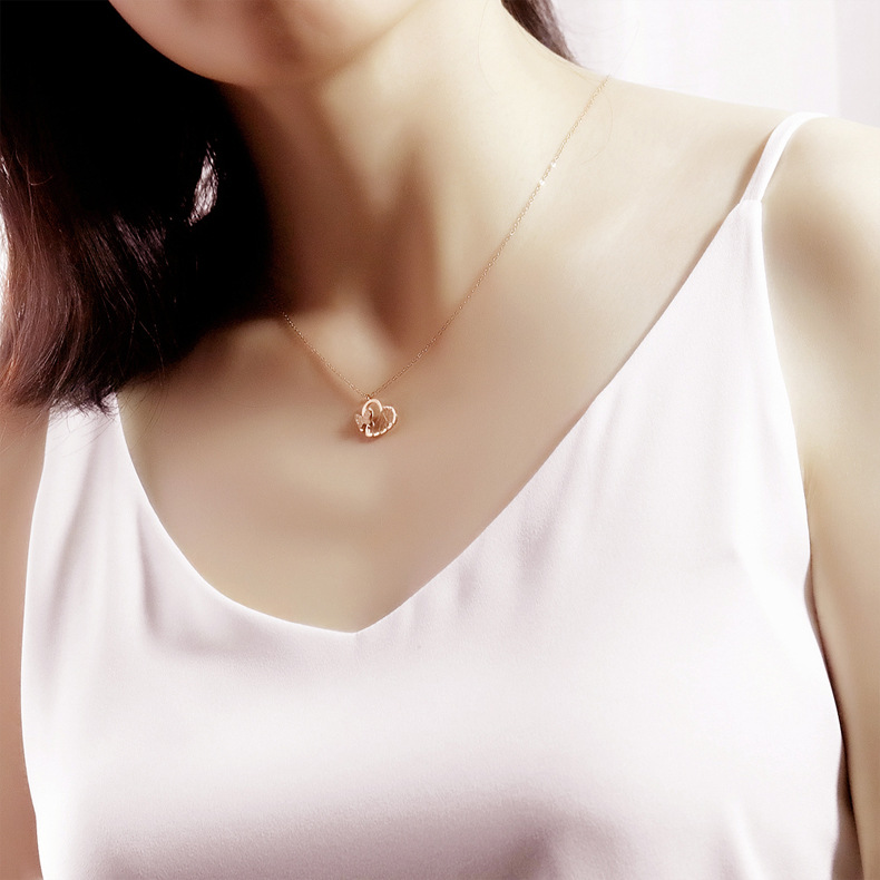 Titanium&Stainless Steel Korea Geometric necklace  (necklace) NHOP3144-necklace