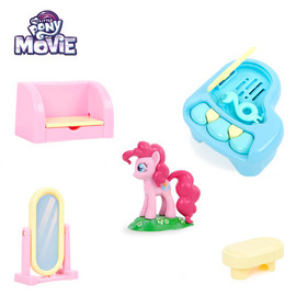 Children's educational small scene girl toy pony play house Polaroid simulation mini concert with a variety of music
