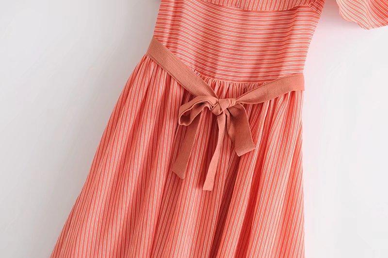 Cotton Fashiondress(Orange-L) NHAM2497-Orange-L