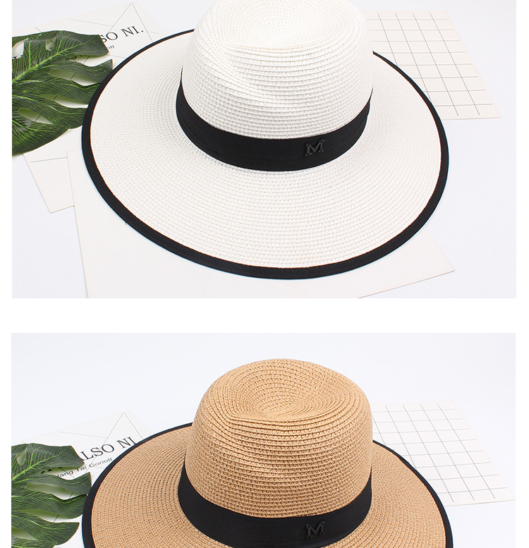 Jazz hat sun protection large coastal beach sun hat straw straw hat NHXO193755