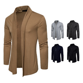New fashion men's basic long-sleeved lapel shawl shirt Cardigan Y55