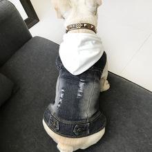 韩版宠物衣服春秋装泰迪比熊狗狗两脚牛仔背带连体衣厂家直销批发