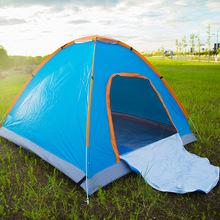 户外帐篷野营 2秒速开抛帐防雨野营帐篷 免搭建晒隔水可定做帐篷