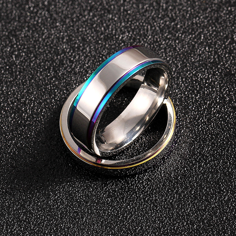 Stylish and simple tungsten steel ring NHIM145918