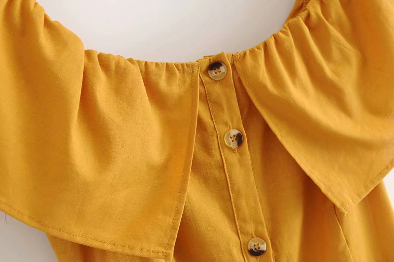 Cotton Fashionskirt(Yellow-S) NHAM4424-Yellow-S