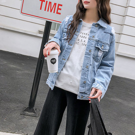 Spring and Autumn pregnant Women's Wear Leisure pregnant Women's Cowboy Coat short long-sleeved Blouse and Fashion Mother's dress
