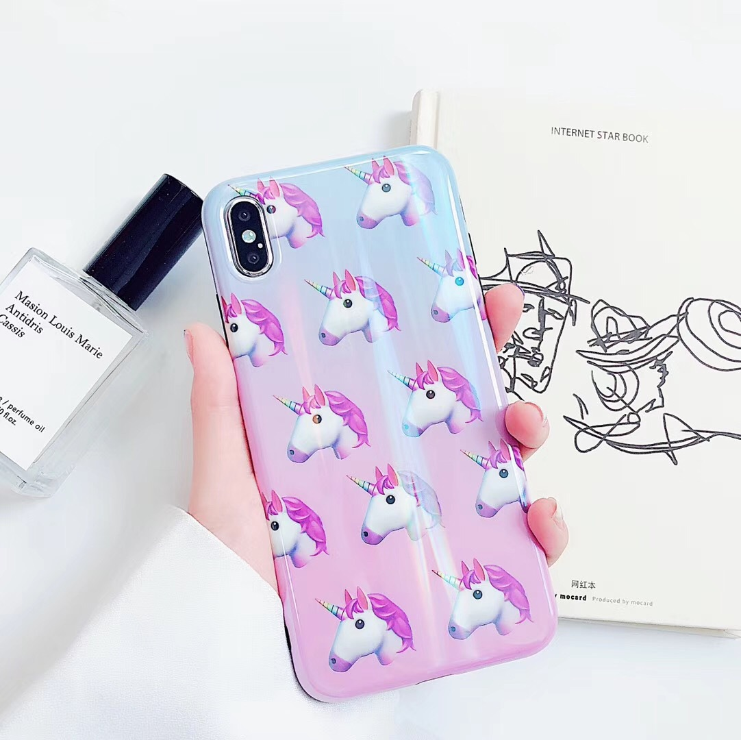 Unicorn for Apple XS Max/XR Mobile Shell iPhoneX/8plus/7p/6s Personality Cute Women