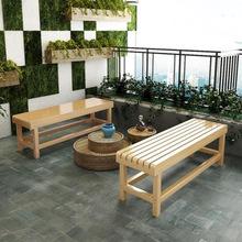 工廠直銷加厚實木凳長條凳戶外碳化休息凳換鞋凳桑拿浴室凳床尾凳