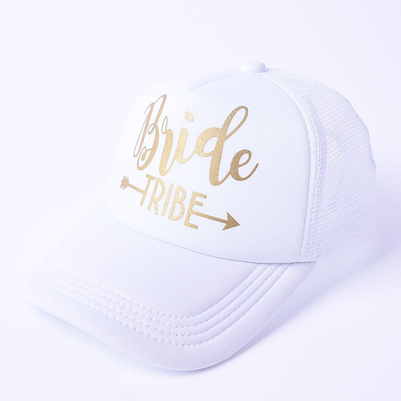 Sports & Entertainment Water Sports Bride Wedding Baseball Cap Gold Print Mesh Hat Women Party Brand Bachelor Club Team Bride Tribe Snapback Caps Beach Casquette Refreshment