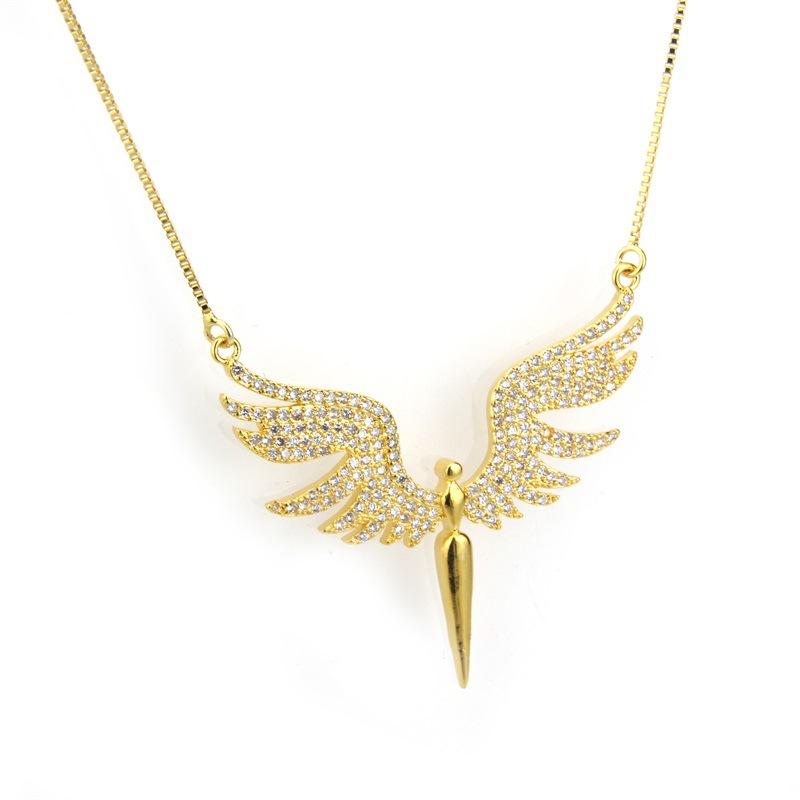 Copper Fashion Animal necklace  (Alloy-plated white zirconium)  Fine Jewelry NHBP0389-Alloy-plated-white-zirconium