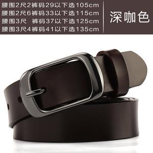 ខ្សែក្រវ៉ាត់នារី Women Casual Leather Pure Cowhide Simple Belt PZ735446