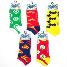 美國救世英雄系列隱形船襪 卡通個性短襪 復仇者聯盟超人襪