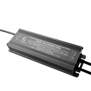 批发0-10V调光电源100W投光灯恒流LED驱动电源防水0-10V调光电源